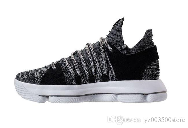 689349059efd 2019 KD Basketball Shoes Mens KD 10 Sport Sneakers Triple Black White BHM  Oreo Anniversary Red Multi Color Elite Durant US 7 12 From Yz003500store