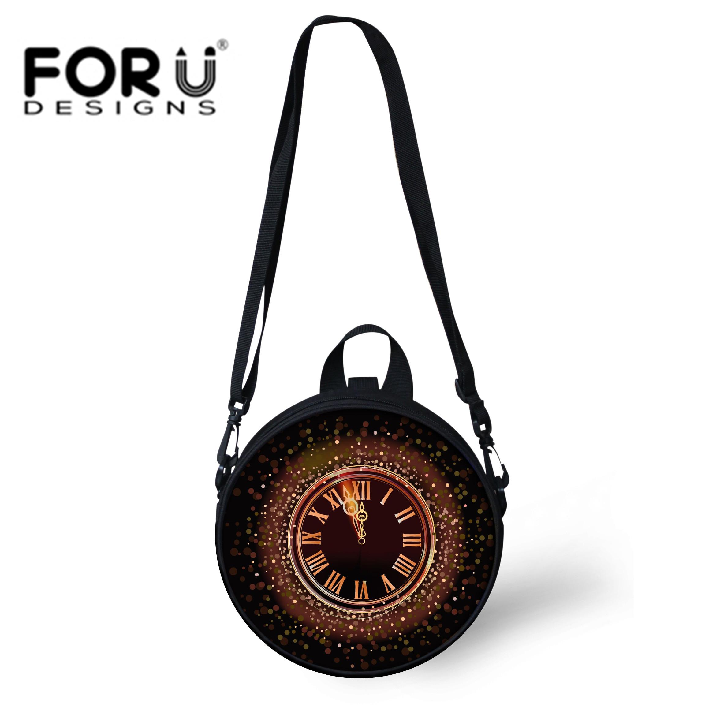 59e4c6cc56 FORUDESIGNS Round Women Bag Clock Print Crossbody Bags Womens Shoulder Bag  Ladies Cute Galaxy Women Messenger Bags Circle Purse Crossbody Bags Satchel  From ...