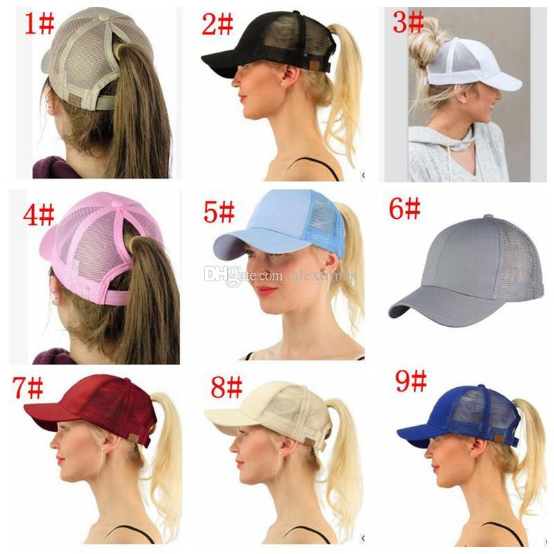 Hot Fashion CC Ponytail Cap Messy Bun Women Ponytail Caps Cap Fashion Girl Basketball  Hats Back Hole Pony Tail Caps Men Caps Hats Caps Online with ... f114cbd5240d