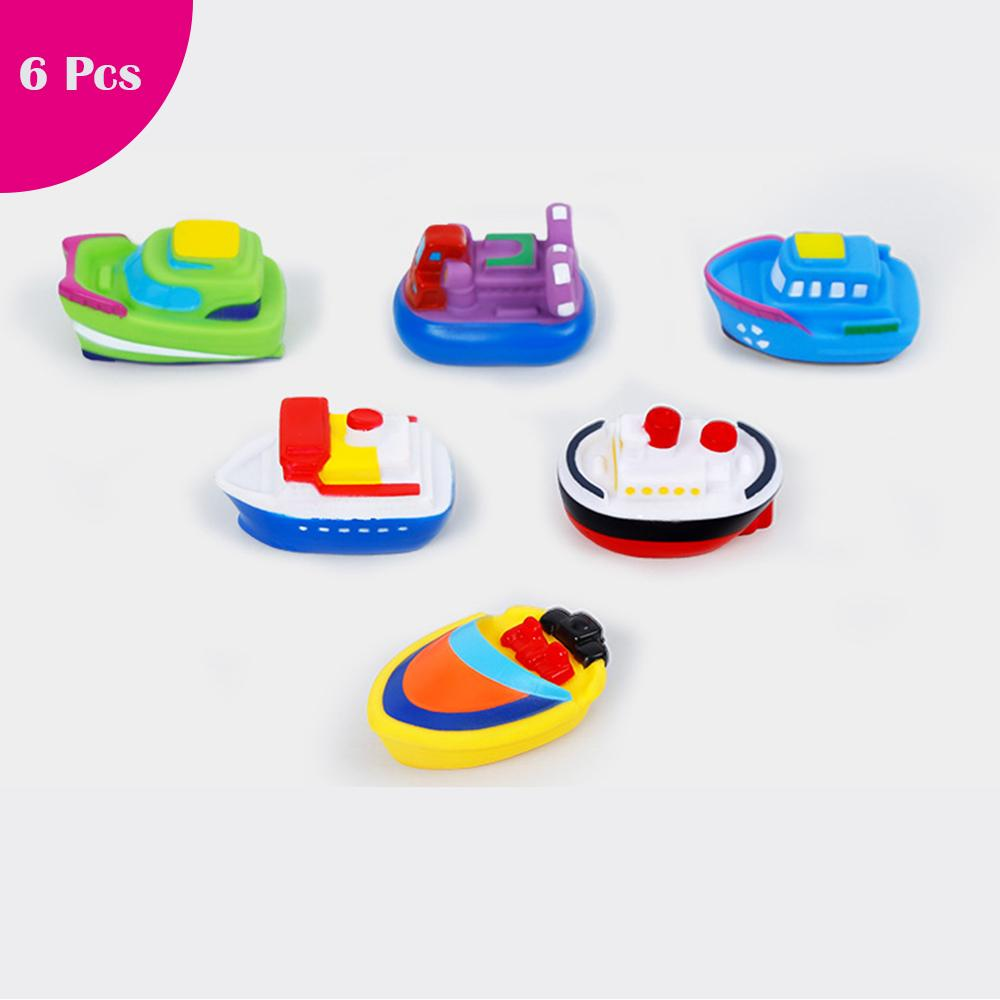 Baby Bath Toys Soft Rubber Boat Kids Water Toys Squeeze Spraying Beach Bathroom Swimming Pool For Kid