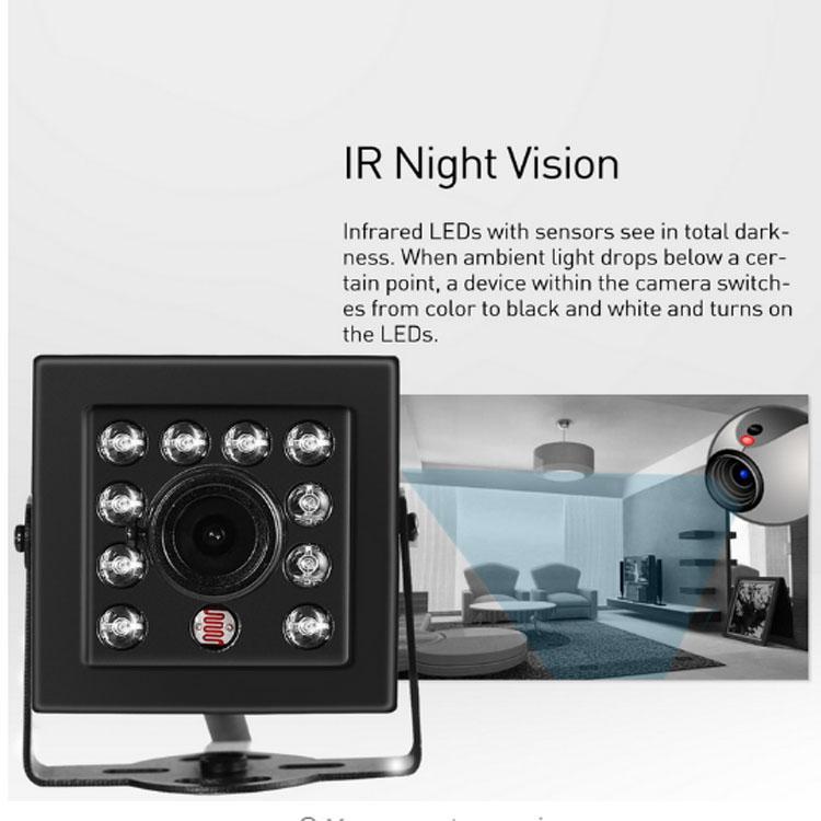 Mini HD 720P / 1080P IP Camera 10 LED IR Indoor 1.0MP / 2.0MP CCTV Camera ONVIF Night Vision P2P Security Black Cam