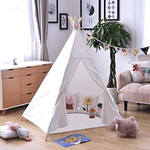 Dalosdream Kids Tent Indoor Teepee Tent for Kids with 5 Wooden Poles Children Teepee For Toy Tents Cheap Toy Tents Dalosdream Kids Tent Indoor Teepee Tent ... & Dalosdream Kids Tent Indoor Teepee Tent for Kids with 5 Wooden ...