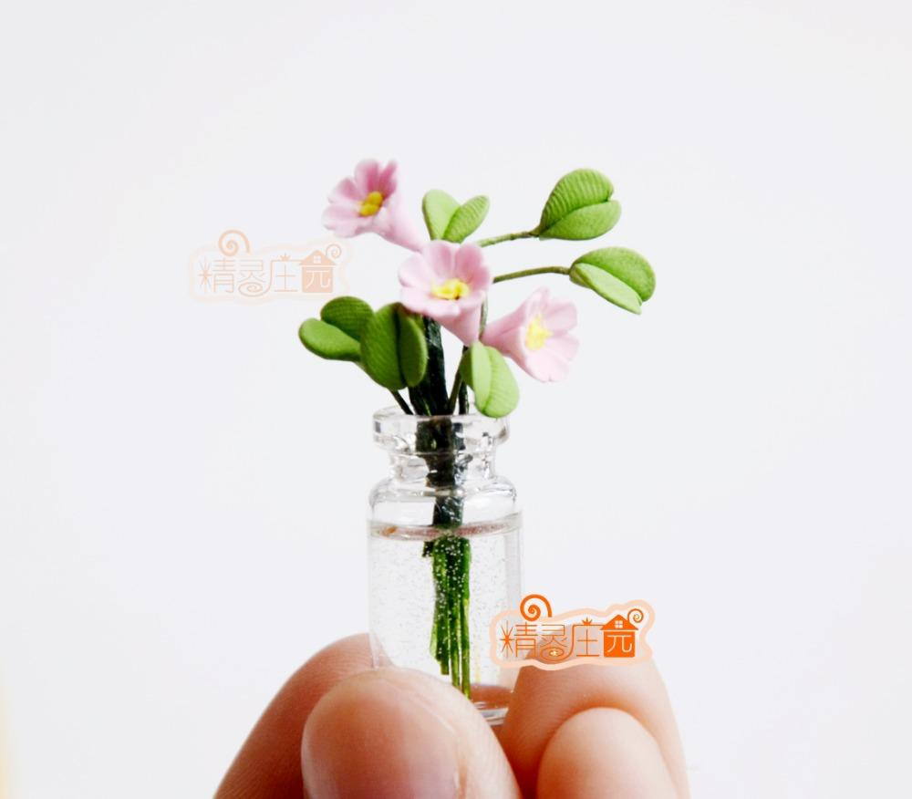 Dollhouse Miniature 1:12 Toy Flowers And Fruit Hanging Basket Doll House Decor