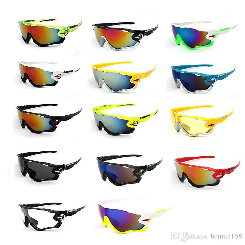 3 Lens Polarized Cycling Eyewear Outdoor Road Racing Fashion Sunglasses Cycling Goggles UV400 EV Bike Sunglass 12 Frame Colors For Choice