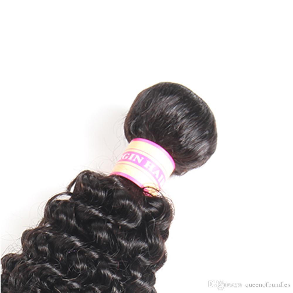Brezilyalı Kıvırcık Bakire Saç 3/4 ADET Brezilyalı Kıvırcık Örgü İnsan Saç Demetleri Bohemian Kıvırcık Saç Atkı Dikmek