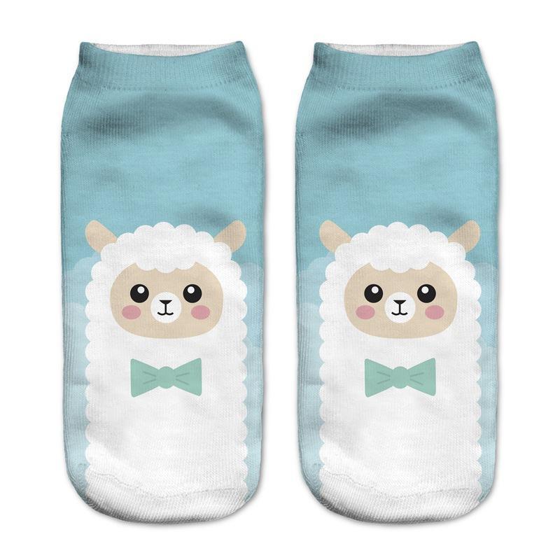 14fbe0ac7 2019 Foot 22 25cm Ankle Socks Alpaca Sheep Farm Llamas Lama Wool Vicunas  Lambs Yarn Plush Bow Tie Fluffy Menagerie Zoo Animal Kawaii From Biwanrou