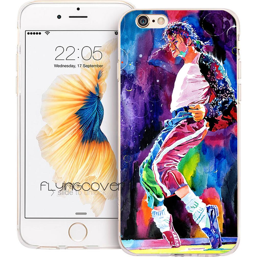 hot sale online 537fb 2e2f3 Michael Jackson Dancing Clear Soft TPU Silicone Phone Cover for iPhone X 7  8 Plus 5S 5 SE 6 6S Plus 5C 4S 4 iPod Touch 6 5 Cases.