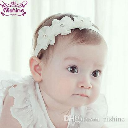 Nishine Newborn Flower Headband Girls Kids Elastic Hair Band Headwear Head  Accessories Baby Clothing Decoration Photoshoot Hair Accessories Boutique  Infant ... f72ddbc6d7ed