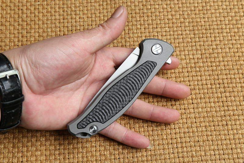 Green Thorn F95 Flipper taktische Klappmesser Lager D2 Klinge TC4 Titan Griff Outdoor-Ausrüstung Camping Survival Taschenmesser EDC Werkzeuge