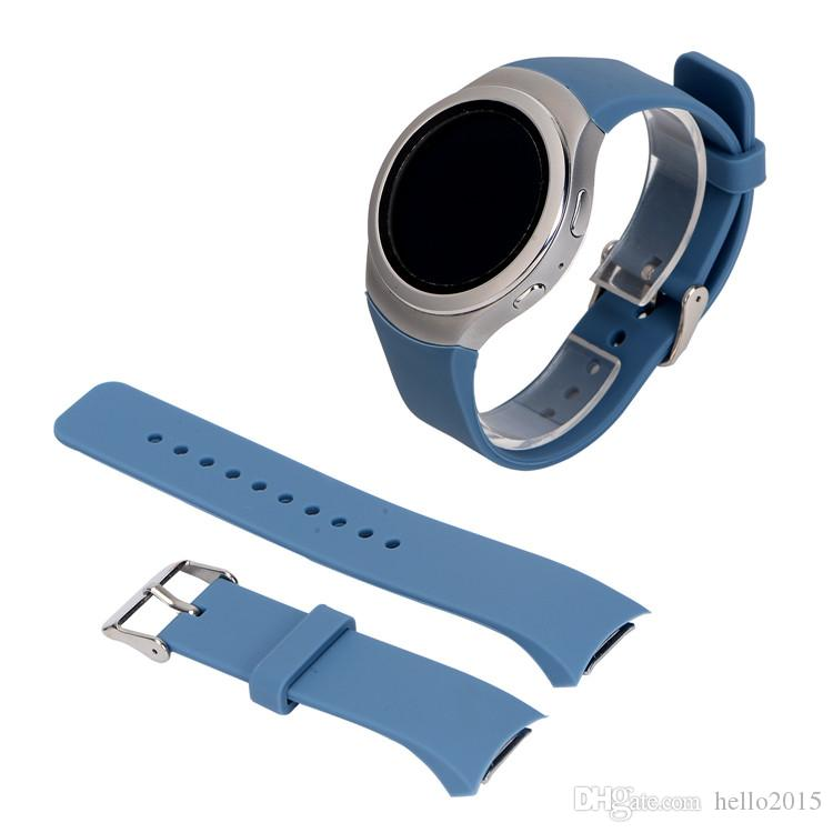 Silicone Watchband for Samsung Gear S2 R720 R730 Smart Watch Band Strap Sport Watch Replacement Bracelet for SM-R720 SM-R730 Band