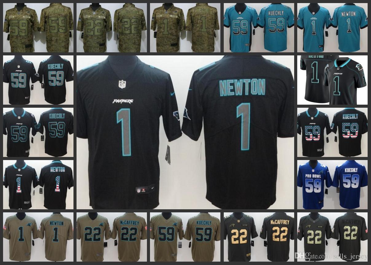 new arrival 9e869 42630 Carolina Panthers Men Women Youth Football Jersey #1 Cam Newton 59 Luke  Kuechly 22 Christian McCaffrey Embroidery Jerseys