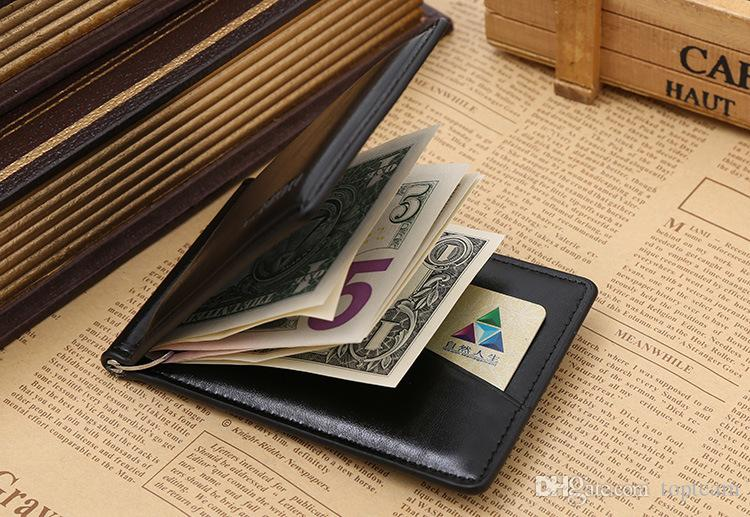 2018 New Brand Men's Purse Wallet for Credit Cards Men's Wallet Leather Genuine High Quality Wallets with Card Holder Money Clip