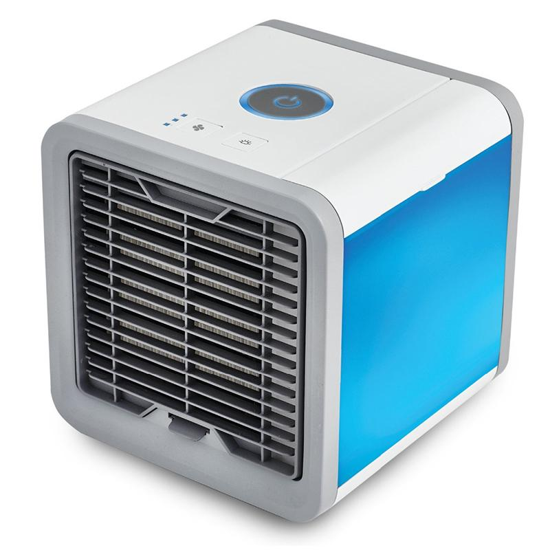 2018 USB Air Cooler Fan Air Personal Space Cooler Portable Mini Conditioner Device Cool soothing wind for Home Office Desk