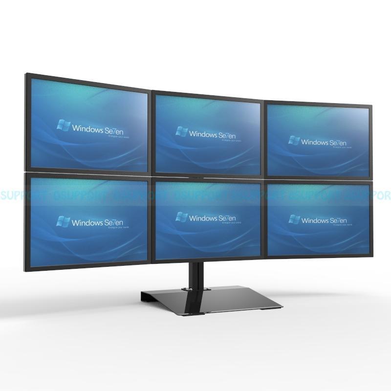 S035 100 Full Motion 13 24 Inch Screen Monitor Holder 6 Mount Desktop Stand 360 Degree Rotation Loading 10kgs Each Head Av Equipment A Streaming