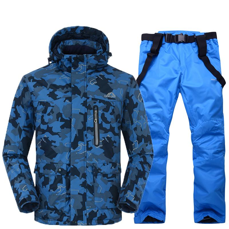 2019 Blue Good Quality Men Snow Sets Outdoor Sports Ski Suit Sets Snowboarding  Skiing Clothing 30 Winter Costumes Camouflage Jacket From Cbaoyu 44db63214