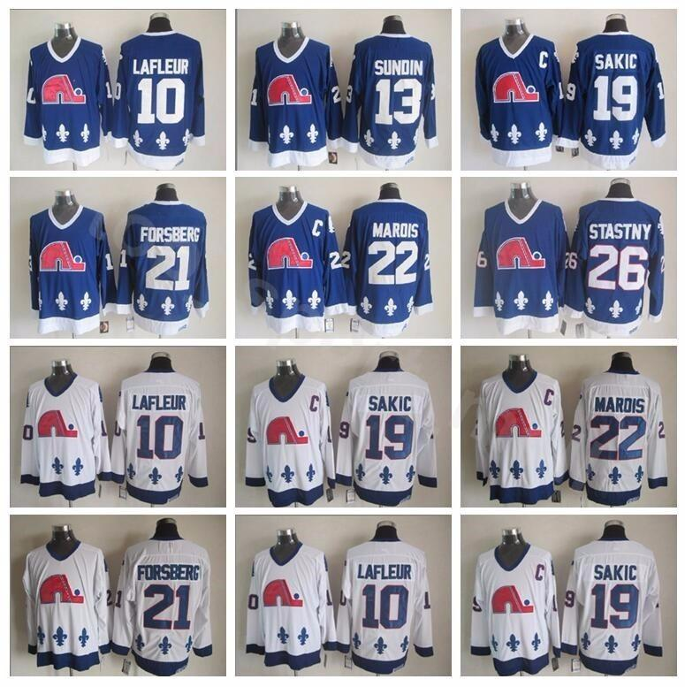 Men Quebec Nordiques 21 Peter Forsberg Jersey Hockey 26 Peter ... de2c865ac