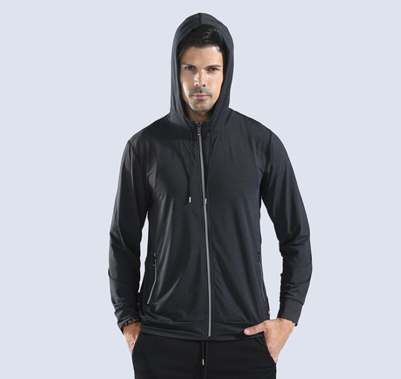 73b810938d74 New Autumn Men Running Jacket Sports Fitness Long Sleeves Hooded ...