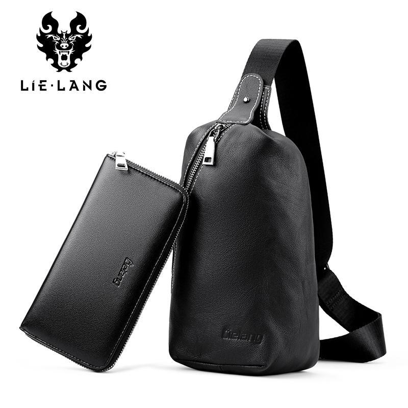 61c5e0dd91f1 LIELANG 2017 New Men S Crossbody Bag Genuine Leather Messenger With Wallets  High Quality Men S Chest Bag Shoulder Bags For Men Designer Crossbody Bags  ...