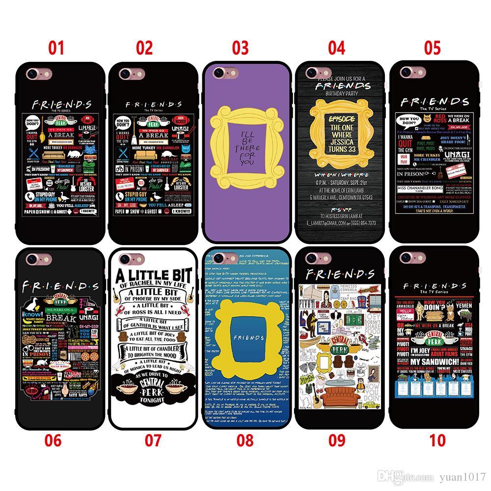 Nuevo estilo amigos programa de televisión Funda para iPhone 8 7 6 6S más x Funda de silicona Funda de lujo Ultra Thin Soft TPU para iPhone 5 5s se bolsa de teléfono móvil