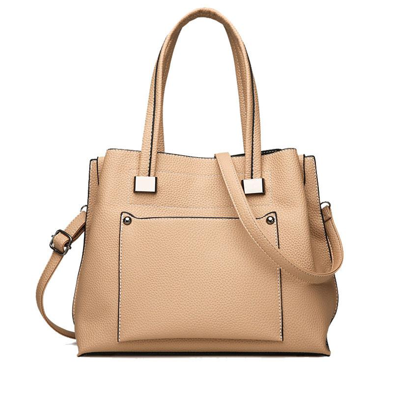050cf11d3f14 Brand Women Leather Handbag Large Capacity Crossbody Shoulder Bag Casual Ladies  Tote Bags Solid Female Messenger Bags Travel Sac Women Handbags Weekend Bags  ...
