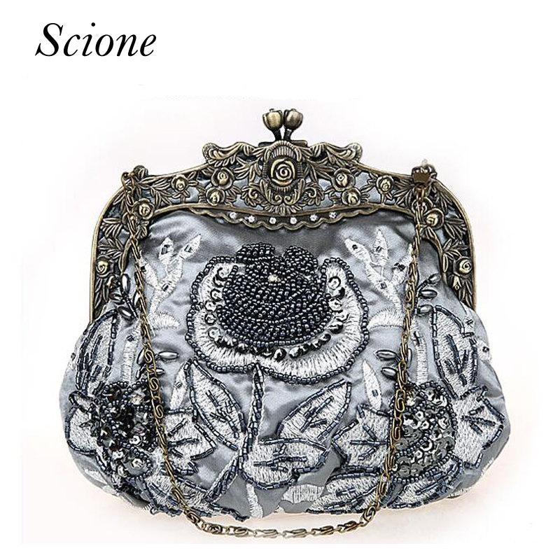 Verantwortlich Clutch Tasche Handtasche Abendtasche Edle Strass Damentasche Hochzeit Schwarz Elegante Form Kleidung & Accessoires Taschen