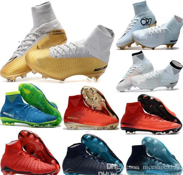aed118c846dae Cheap 100% Original Quality Mercurial Superfly FG CR7 Kids Soccer ...