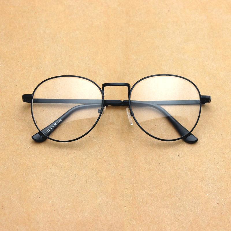 Harajuku Metal Spectacle Frames Retro Art Round Thin Frame