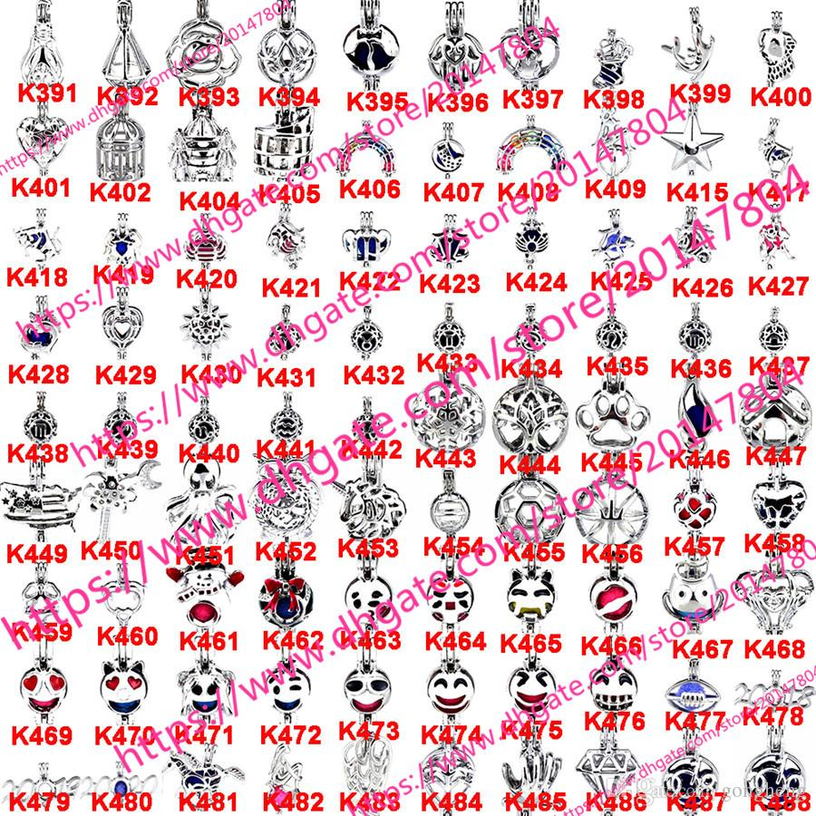 800 Designs for your choose - Locket Cages Love Wish Pearl/ Gem beads oyster Pearl Mountings - Christmas Pearl Cage - WITHOUT Akoya Oyster
