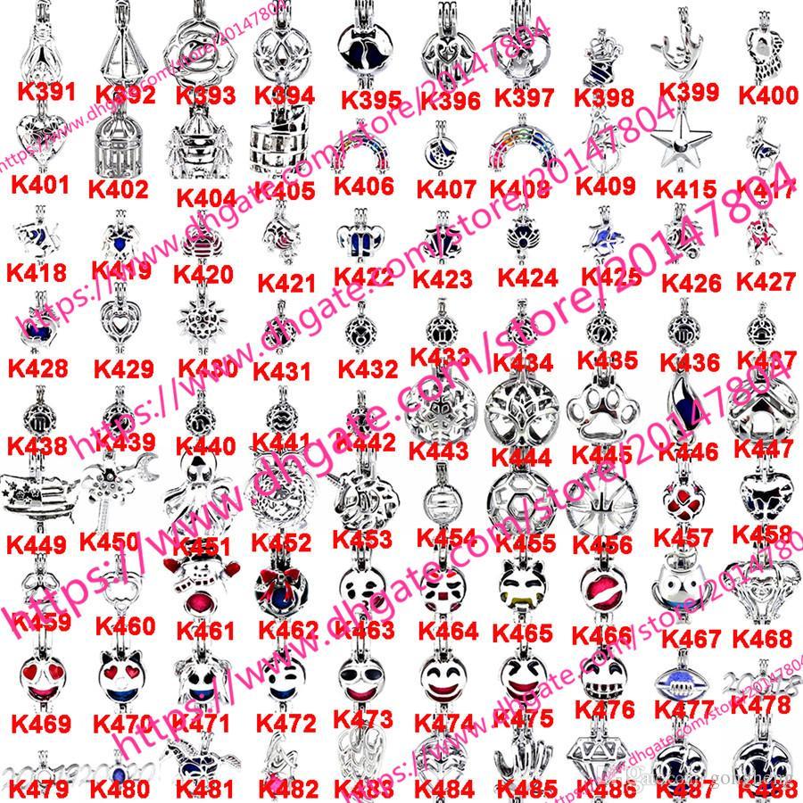 800 disegni la vostra scegliere - Locket Gabbie di desiderio di amore Pearl / perline Gem Silver Pearl Supporti - Natale Pearl Cage - SENZA Akoya Oyster
