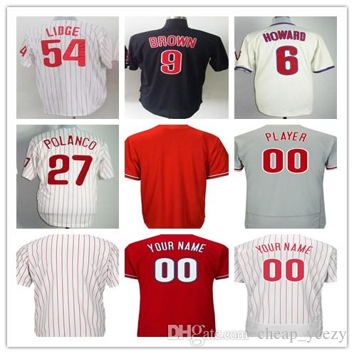 Baseball & Softball Philadelphia Phillies Howard 6 Trikot Jugendliche L