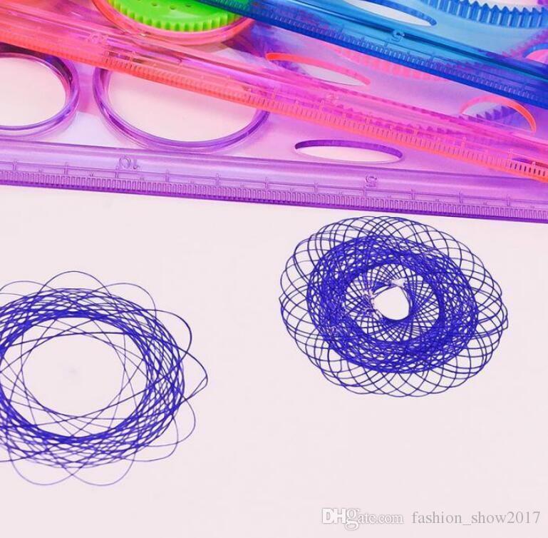 높은 품질의 그림 다기능 흥미로운 퍼즐 Spirograph 어린이 그리기 플라스틱 통치자 개선 작업 능력