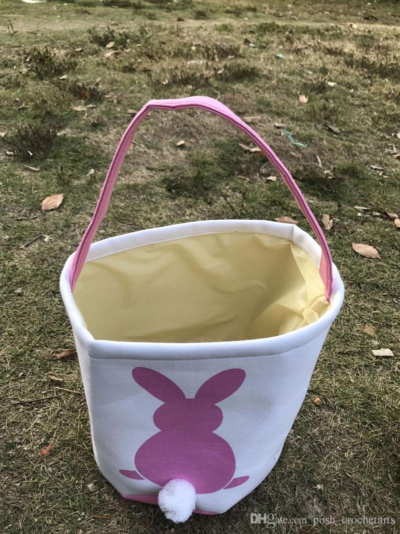 Easter Bunny Ear carrello Borse Easter Egg Hunt Eco Canvas Candy bagagli il giorno di Pasqua Borse portano Candy Ostern Gifts