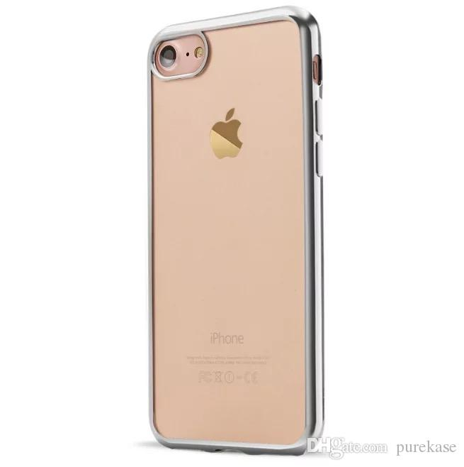 PURE KASE for iphone 7 8 Case, Slim Clear Soft Flexible TPU Cover for Apple iphone 7 plus 8 plus