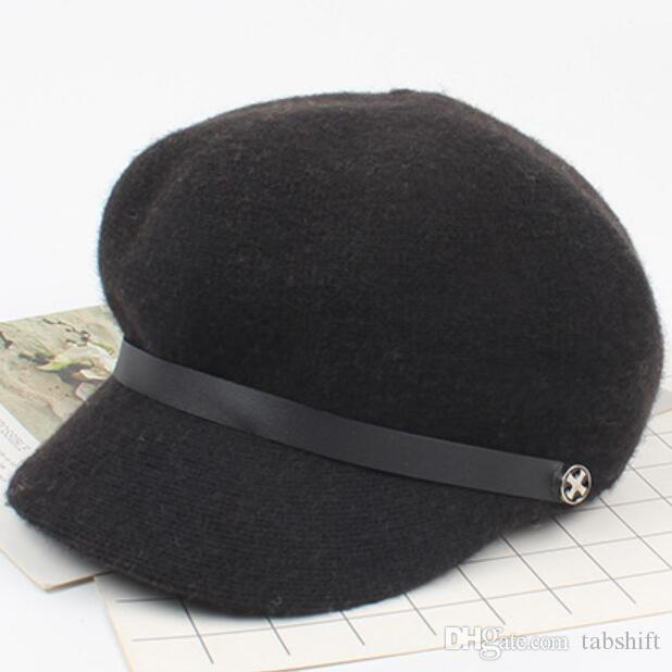 5ed558ceda287 2019 Hats For Women Art Beret Match The Korean Version Of The British Wool  Blend Octagon Hat Fashion Painter From Tabshift