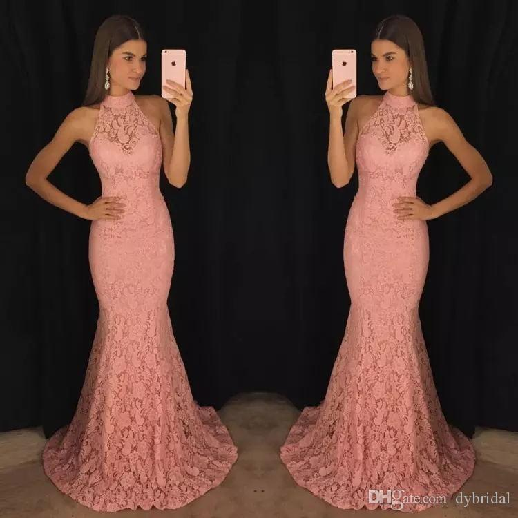 2018 sexy cheap plus size african prom dresses long pink lace black girl prom dress formal evening gowns