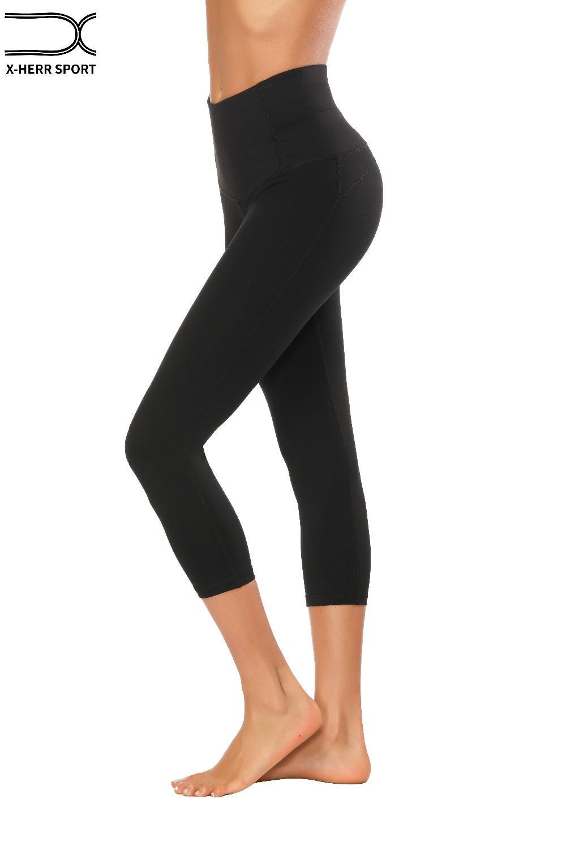 141beaf080 Compre 2018 Pantalones De Yoga Leggings Sport Mujeres Fitness Pantalones  Deportivos Elásticos De Secado Rápido Mallas Mujer Deportiras Fitness Yoga  Leggings ...