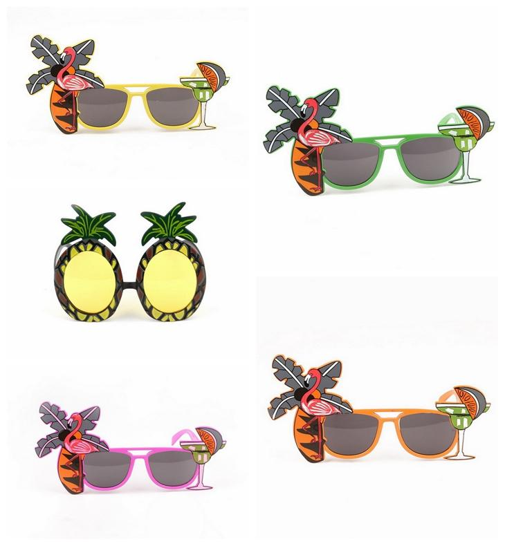 74d05f51f0 Beach Party Novedad Gafas De Sol De Piña Flamingo Decoración Del Partido  Hawaiano Divertido Gafas Gafas Hen Party Supplies DDA552 Por Sport_no1, ...