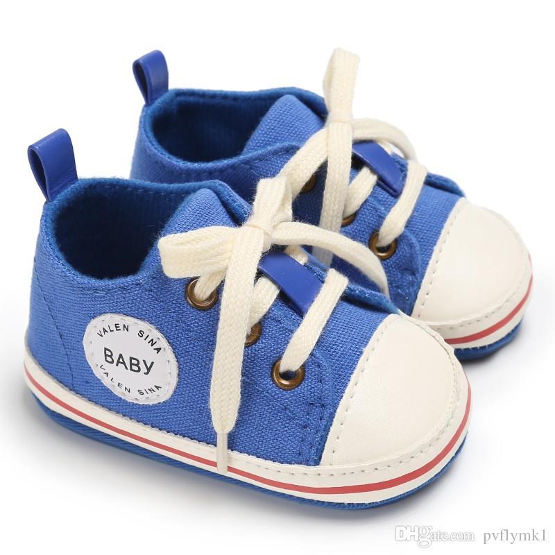 Acquista Scarpe Bambini 2018 Scarpine Neonato Passeggini Bambini Tollder  Scarpe Di Tela Stringate Bambini Sneaker Prewalker 0 18M A  5.64 Dal  Pvflymk1 ... 80e444d1877
