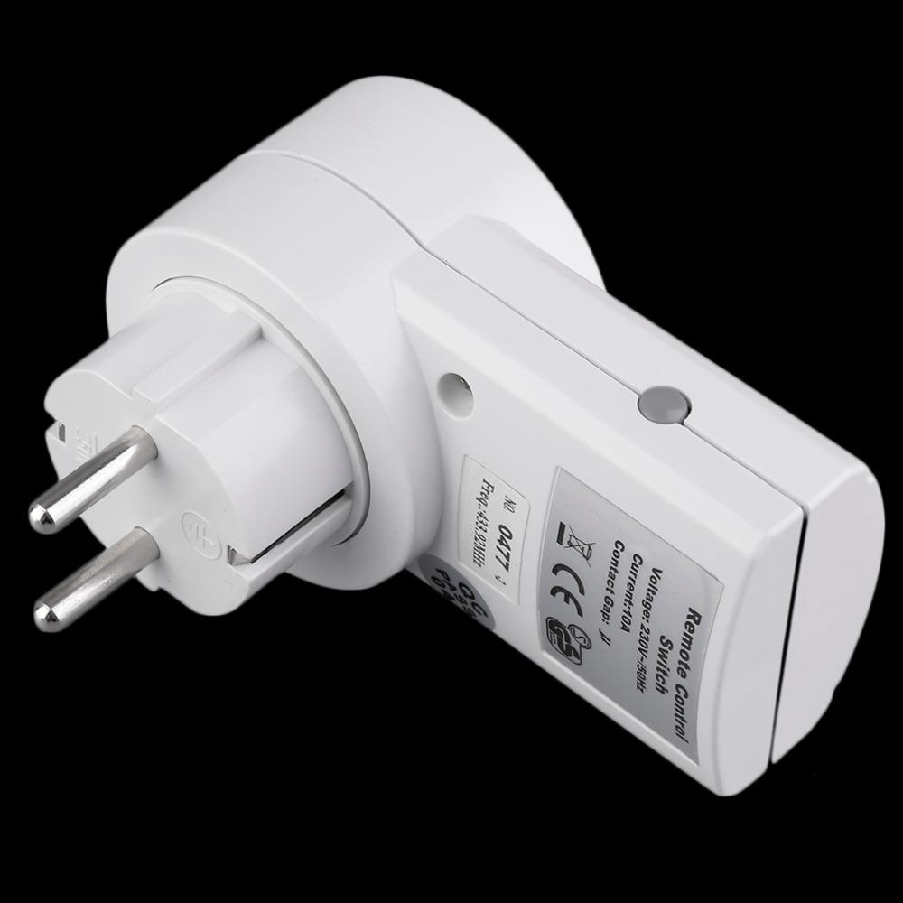 Wireless Remote Control Home House Power Outlet Light Switch Socket 1 Remote EU Plug DC 12V