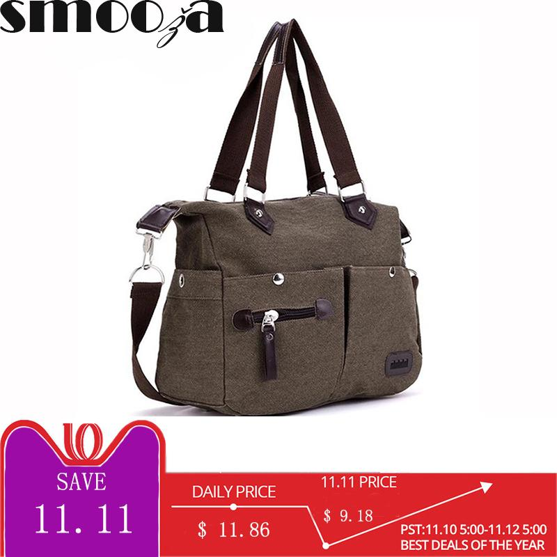 468b66d0a2de 2019 Fashion SMOOZA Denim Canvas Women Bag Cowboy Hippie Street Style Fashion  Lady Lazy Pillow Bags Vintage School Shoulder Messenger Bag Purses Designer  ...