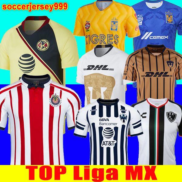 outlet store 09871 2ed4f Thailand 2018 2019 LIGA MX America CHIVAS Guadalajara UNAM TIGRES UANL  soccer jersey Club de Cuervos Monterrey 18 19 football shirt uniforms