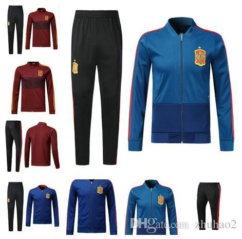 462ccd7fbb0 2019 2018 World Cup Spain Soccer Jacket Tracksuit 18 19 Red Blue Spain  ASENSIO MORATA ESPANA RAMOS ISCO Football Training Uniforms Sale From  Zhuhao2, ...
