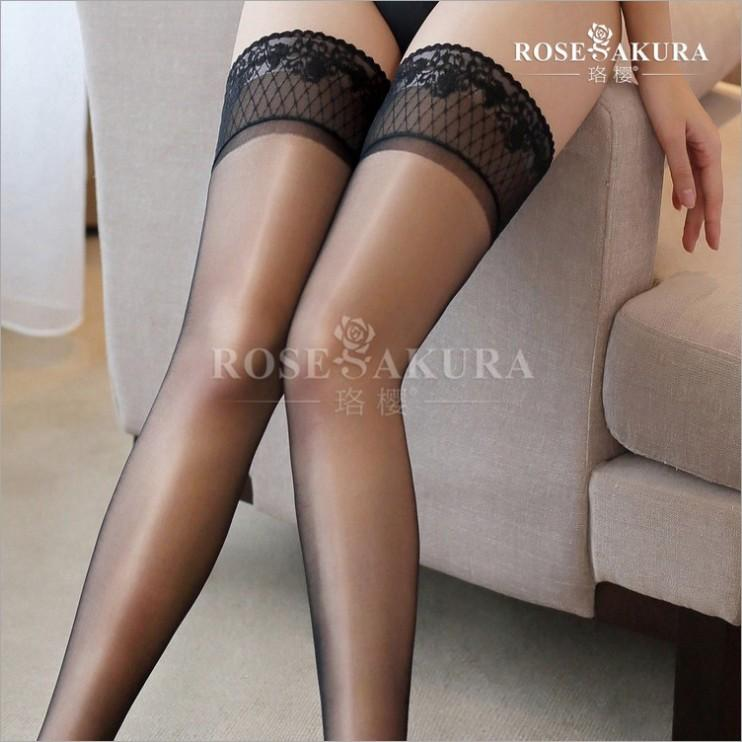 f558156d83a 2019 Womens Lace Top Silicone Stay Up Shine Thigh High Socks