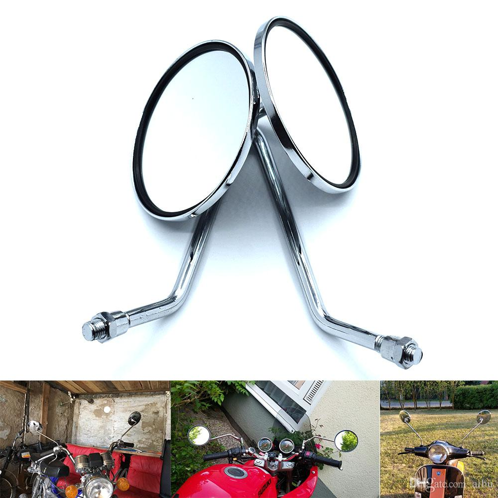 For Motorcycle Rearview Mirror 8/10 Mm Universal Cafe Racer Side Mirror For  Suzuki DRZ 400 BANDIT 400 GS500 M109R SV650 Honda Yamaha