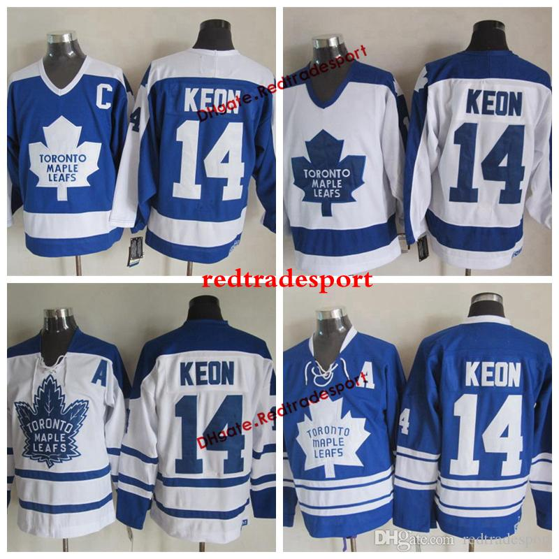 reputable site 1b378 31e12 Vintage Toronto Maple Leafs Dave Keon Hockey Jerseys Home Blue Mens Classic  #14 Dave Keon Stitched Hockey Shirts A Patch