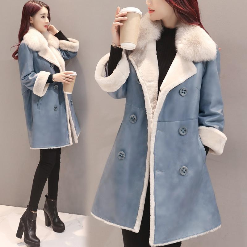 b0833642c2a 2019 Young Girls Big Coat Women Korean Edition 2017 Autumn Winter Fashion  New Jacket Quality Slim Medium Long Design Ladies Coats From Aqueen