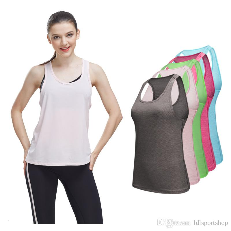 c7875d19bbbc6 2019 New Sport Vest Women Yoga Tank Top Gym Sleeveless Sport Shirt Sports  Top Singlets Women Running Wear Clothing Workout Running Vest From  Ldlsportshop