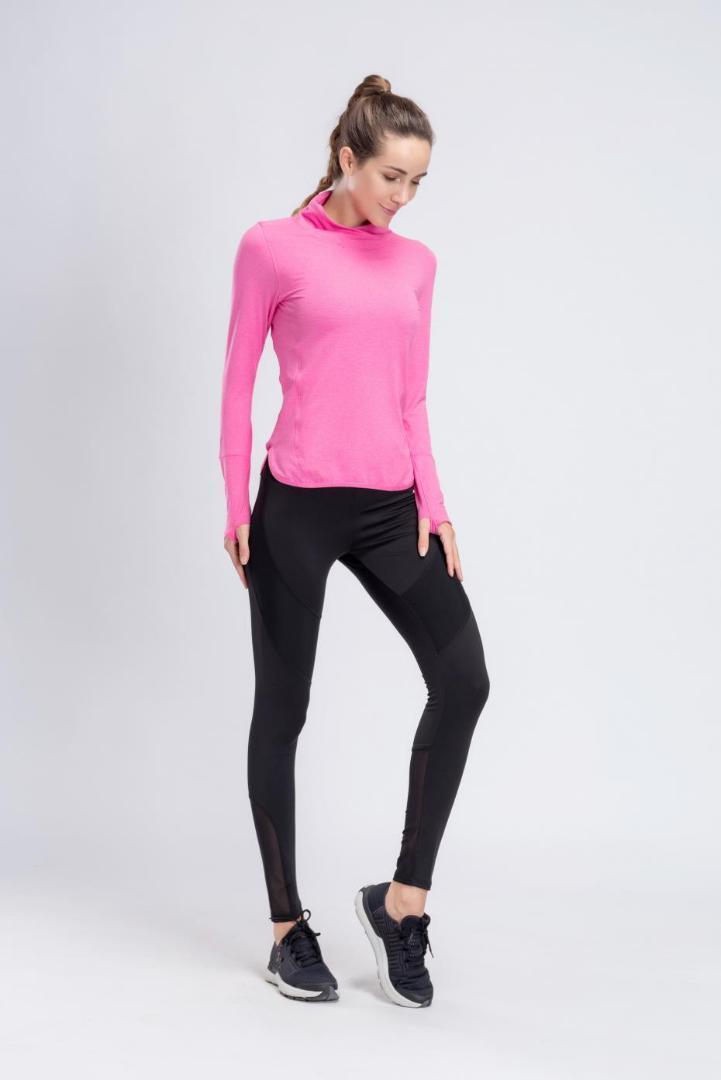 Mujeres Camisetas Traje Yoga Barbok Aire Correr Al Fitness Cuello Deportes  Secado Conjunto Manga Ropa Larga Camisas Rápido De ... 99aee26fd345