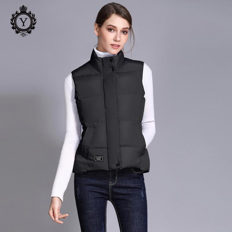 2019 COUTUDI 2018 Autumn Women Down Vest Puffer Female Sleeveless Jacket  Polyester Cool Vest Women Duck Down Coat Chalecos Para Mujer From Prime10 baf9a722eaa6