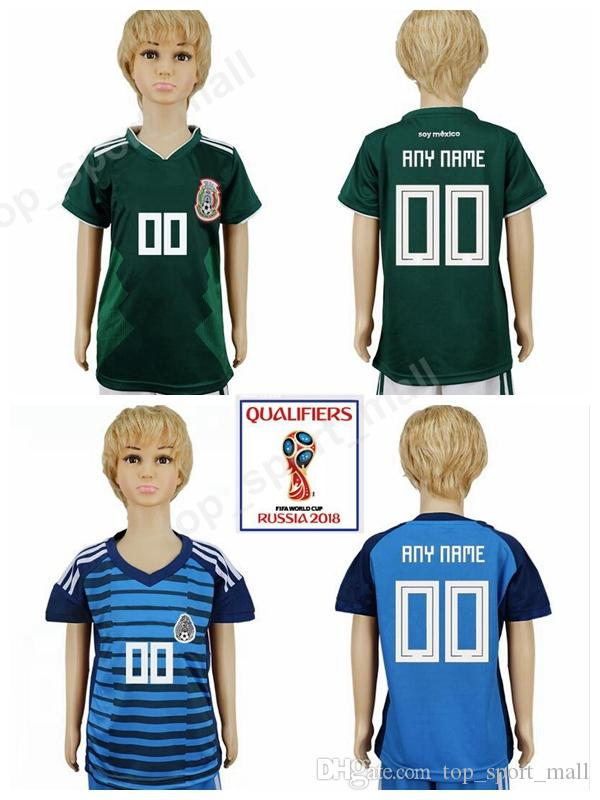 5119e487b21 2018 World Cup Soccer Mexico Youth Jersey Mexican Children Football Shirt  Uniforms 8 LOZANO 10 G DOS SANTOS 14 CHICHARITO 7 LAYUN Kids Child Mexico  Youth ...